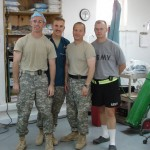 (l to r)  Drs. Scott Steele, Jason Christensen, Brandon Wills, and Jason Johnson